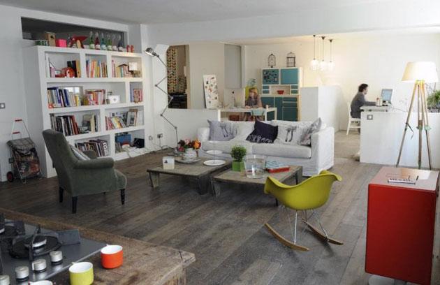 Chez zo de las cases miluccia inspiration d coration for Salon style loft